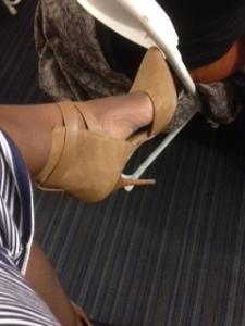 AIJAH Criss Cross Strappy Pointy Toe High Heel Pump by Delicious, $28.00